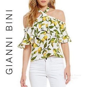 Gianni Bini Cold Shoulder Top